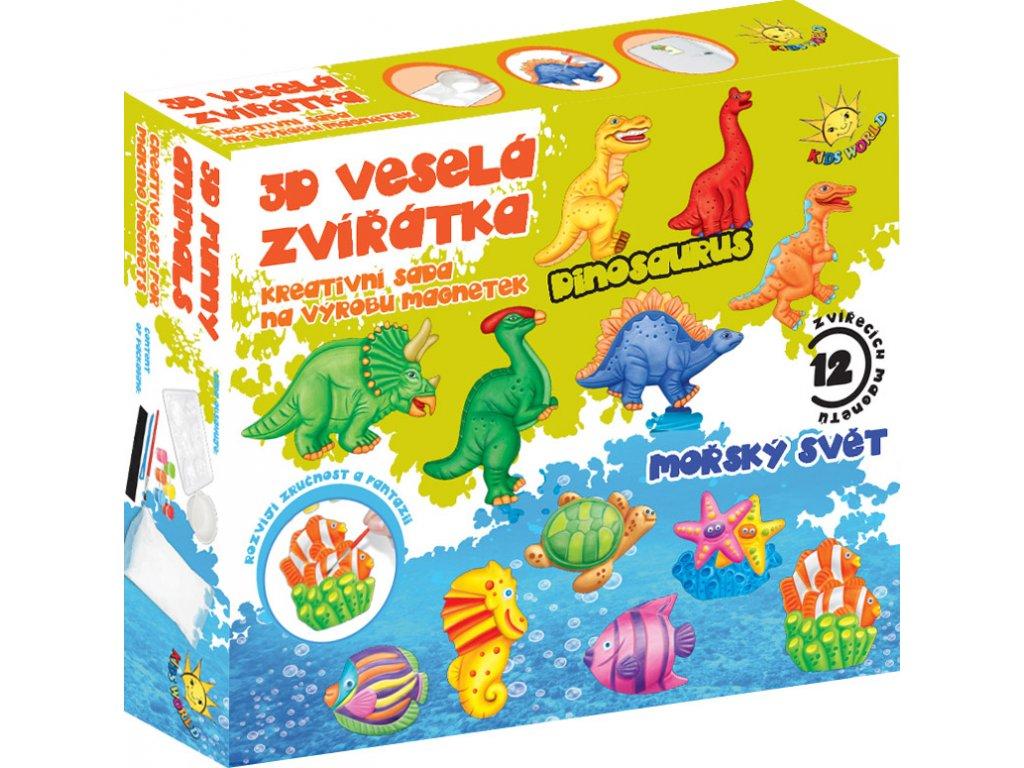 3D veselá zvířátka, výroba magnetek