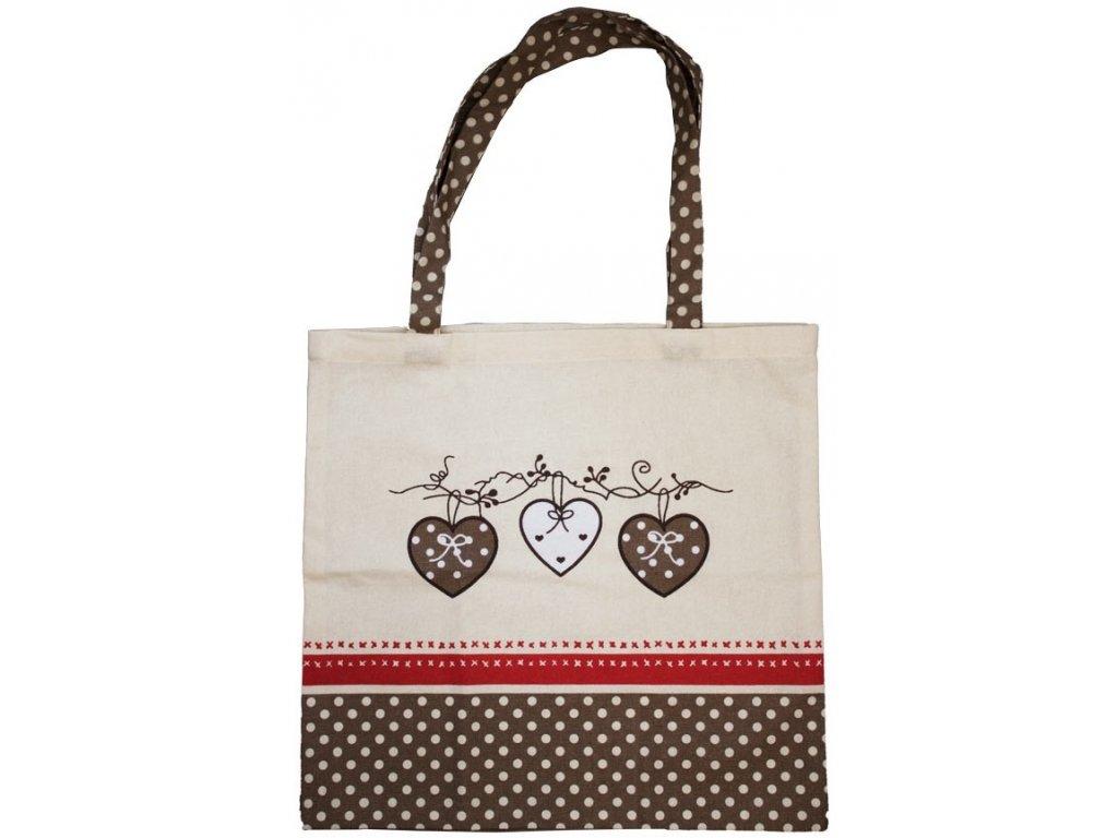 Látková taška, Srdce