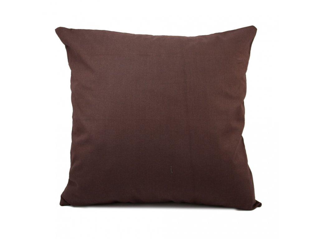 Povlak na polštář 40*40 cm, čokoládově hnědá, II. jakost