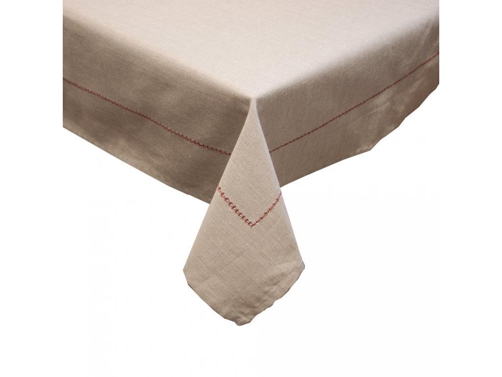 Ubrus z recyklované bavlny, 90 x 90 cm, béžová