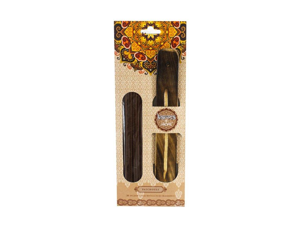 Vonné tyčinky 20 ks + dekorativní stojánek patchouli, II. jakost