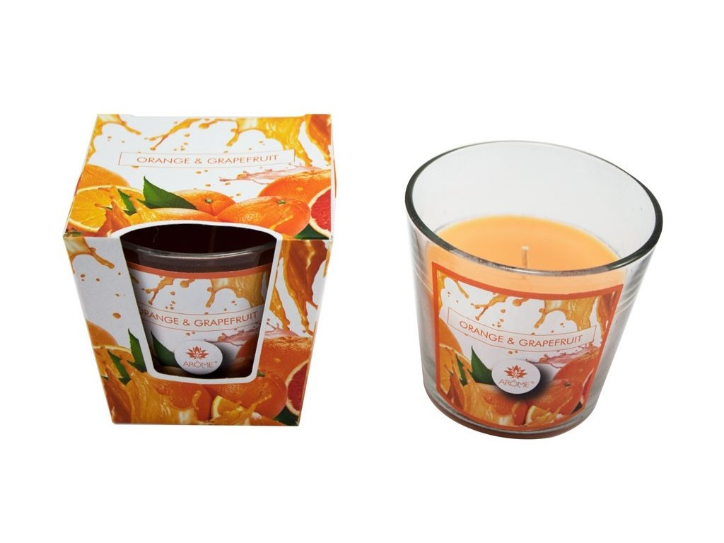 Vonná svíčka 120 g, pomeranč a grep