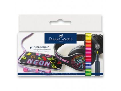 Popisovač Faber-Castell Neon 6 barev