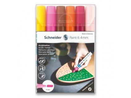 Akrylový popisovač Schneider Paint-It 320 souprava V3, 6 barev