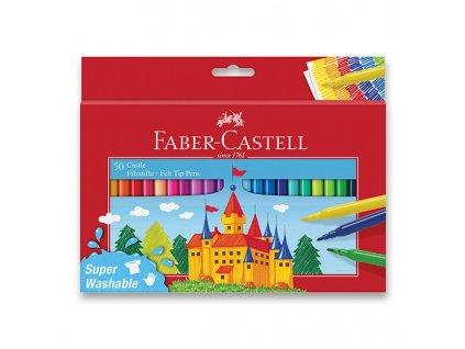 Dětské fixy Faber-Castell Castle 50 barev