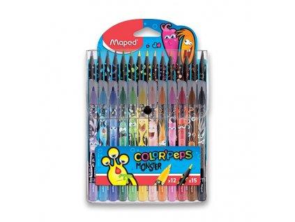 Dětské fixy a pastelky Maped Color'Peps Monster