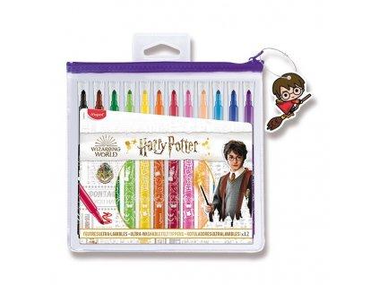 Dětské fixy Maped Color'Peps Harry Potter 12 barev, pouzdro na zip