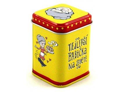 12771 plechova krabicka 4 5x4 5x6 6 cm nejlepsi babicka