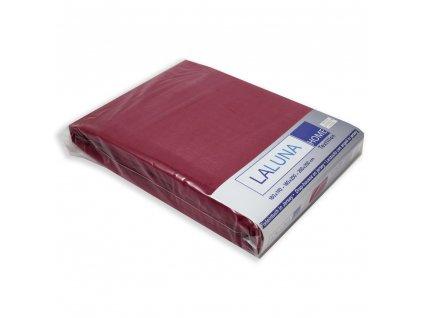 Napínací prostěradlo Jersey 180x200 + 30 cm, Vínové, 100% bavlna,