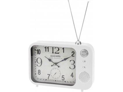 17730 stolni hodiny s designem radia bile