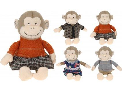 Plyšová opice - různé druhy (variant šedý svetr)