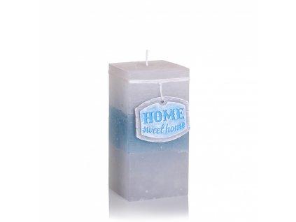 Svíčka Home Sweet Home - hranatá - velká (Barva růžová)