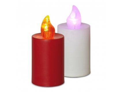 Elektrická svíčka s plamenem 2 ks