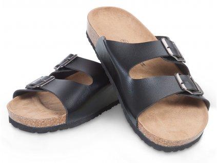 Pánské korkové pantofle černé