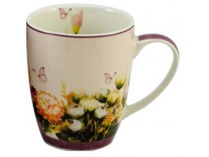 29114 hrnek 340 ml kvetiny porcelan