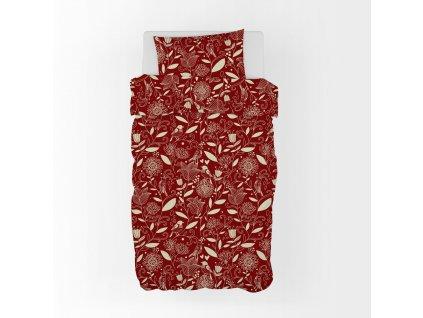 53261 4 bavlnene povleceni cervena jednoluzko