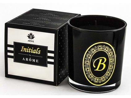 Arôme Svíčka s písmenky Vanilka 200g - B