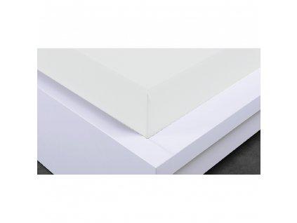 Napínací prostěradlo Jersey 90x200 cm, bílé, bavlna