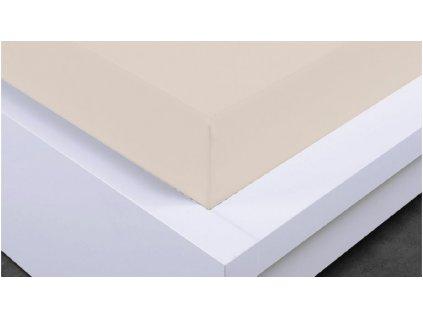 Napínací prostěradlo Jersey 160x200 cm, béžová, bavlna
