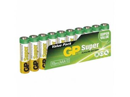 Alkalická baterie GP 1,5V AAA 10 ks