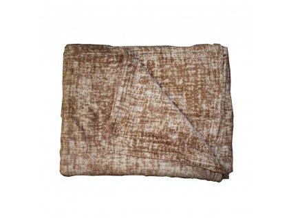 Mikroflanelová deka 150x200 cm, hnědý melír