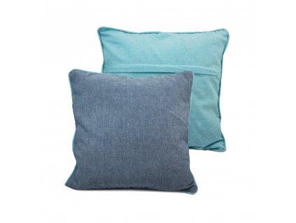 Povlak na polštář z recyklované bavlny, 2 ks, 40 x 40 cm, modrá