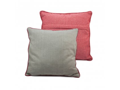 Povlak na polštář z recyklované bavlny, 2 ks, 40 x 40 cm, béžovo červená