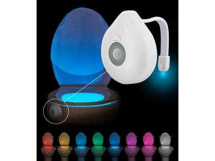 8WC LED osvětlení na WC se senzorem pohybu