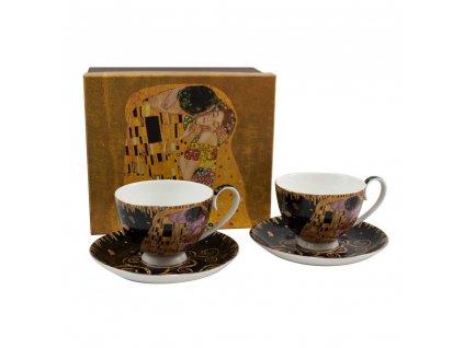 Šálek s podšálkem, sada 2 ks, 250 ml, Klimt