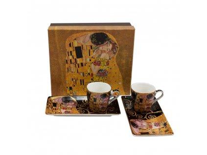 Espresso set, 2 šálky s podtácky, Klimt