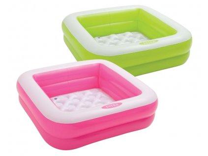 57100 Dětský bazén Play Box 85 x 85 x 23 cm růžová