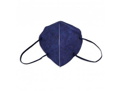 Respirátor FFP2 NR iprotect, balení 10 ks, tmavě modrý