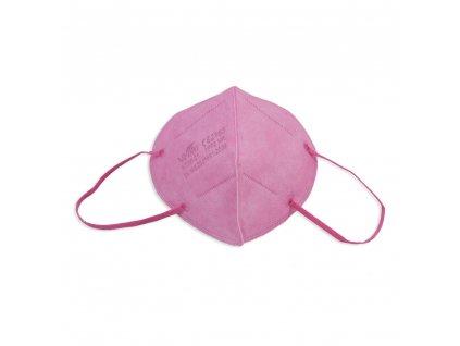 Respirátor FFP2 NR iprotect, balení 10 ks, růžový