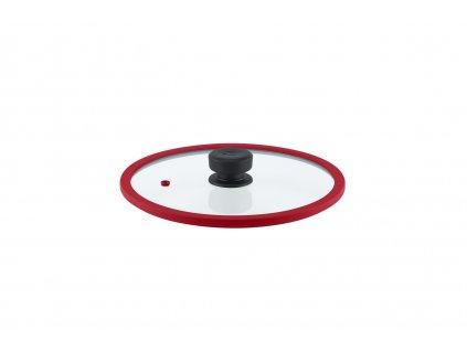 Remoska Vega Skleněná poklice o průměru 28 cm červená