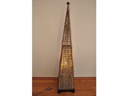 Lampa ratanová vysoká jehlan
