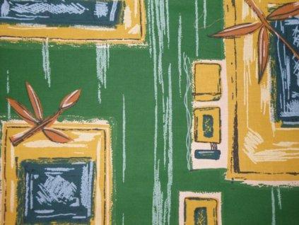 Látka zelená, metráž, č.18