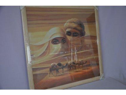 Obraz Sahara 76x76 světlý rám O10