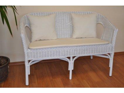 Polstr na lavici Fabion přírodní bílý s polštářky