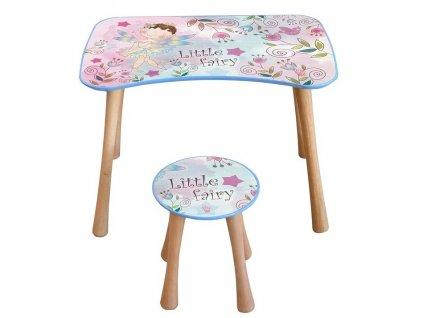 Dětský stolek se stoličkou, 3- 5 let, květinová víla