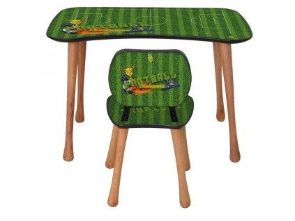 Dětský stolek s židličkou, 5-9 let, fotbal