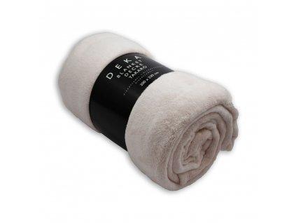 Mikroflanelová deka, 200x230 cm, Světle růžová