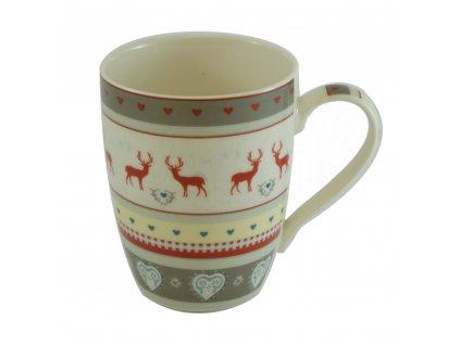 18529 vanocni hrnek porcelan