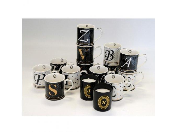 Porcelánový hrnek - Písmeno E