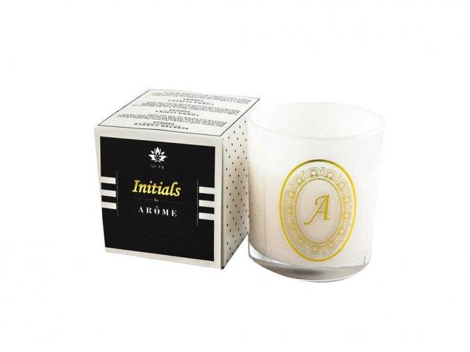 Arôme Svíčka s písmenky Vanilka 200g - A