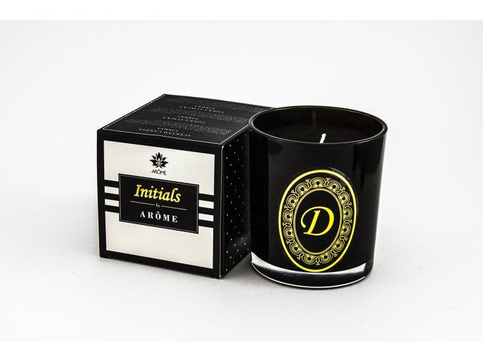 Arôme Svíčka s písmenky Vanilka 200g - D