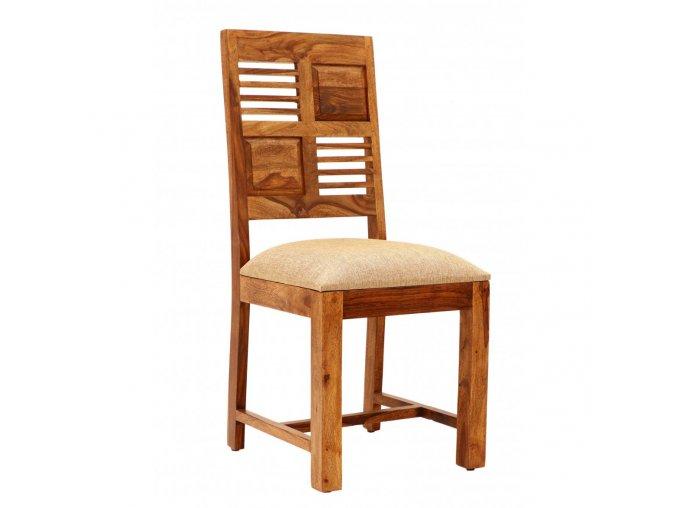 Židle Tara s polstrovaným sedákem z indického masivu palisandr Světle medová