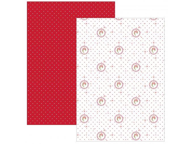 Sada 2 ks kuchyňských utěrek 50*70 cm, Elegant puntíky červené