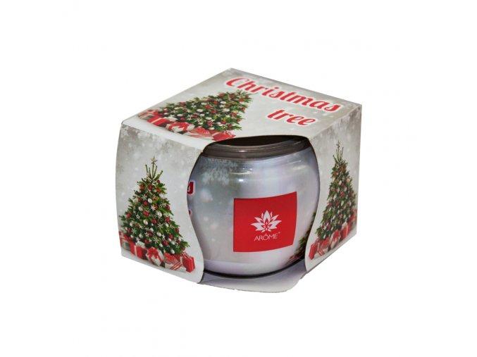 Vonná svíčka 85g ve skleničce, vánoční balení - Frosted spruce