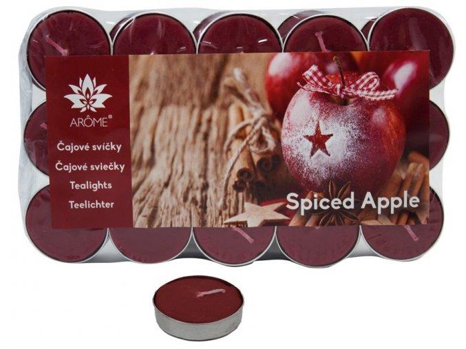 Čajové svíčky, sada 30 ks, kořeněné jablko