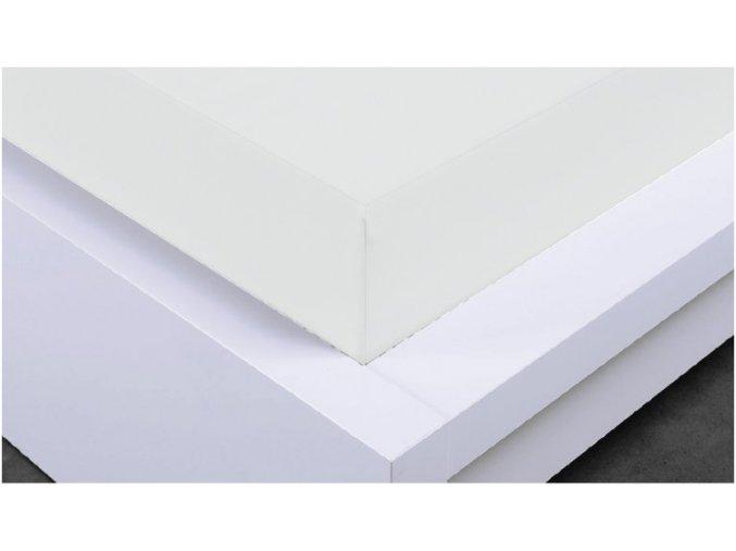 Napínací prostěradlo Jersey 180x200 cm, bílá, bavlna, II. jakost